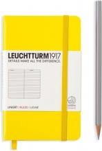, Leuchtturm notitieboek pocket 90x150 lijn yellow