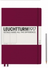 , Leuchtturm notitieboek master slim a4 blanco port red