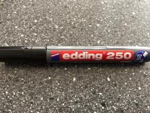Viltstiften , Edding 250  Zwart 3726001