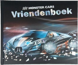 316033 b Monster cars vriendenboek assorti