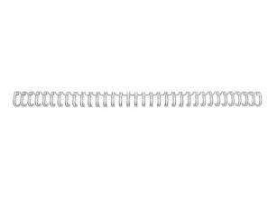 , Draadrug GBC 9.5mm 34-rings A4 zilver 100stuks