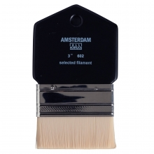 , Talens amsterdam paddle brush 3 inch selected filament