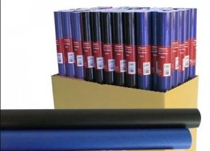 , Kaftpapier kraft uni basis 3 meter x 50 cm blauw/zwart