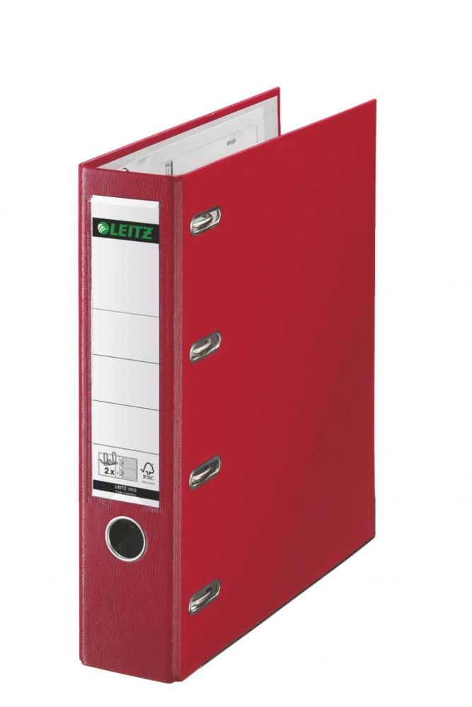 ,Bankordner Leitz A4 80mm 2 mechanieken rood