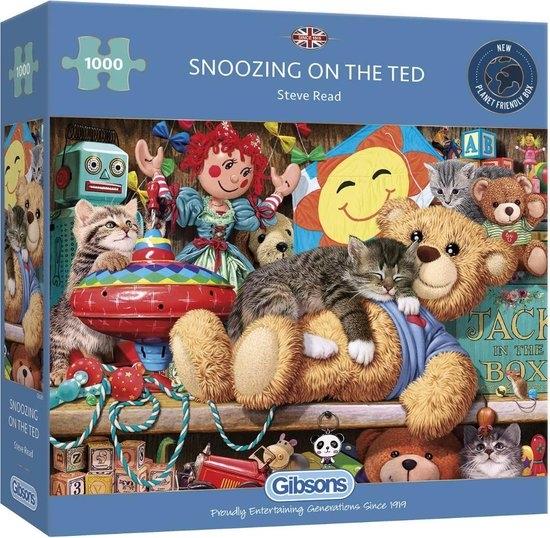 Gib-g6281,Puzzel - snoozing on the ted- 1000 stukjes