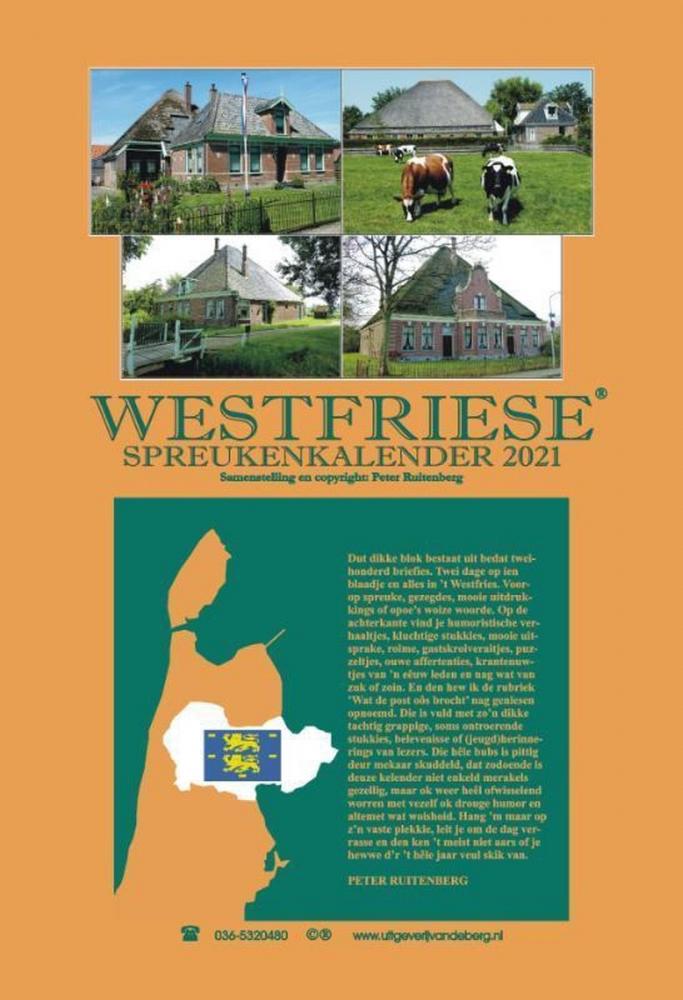Peter Ruitenberg,Westfriese spreukenkalender 2021