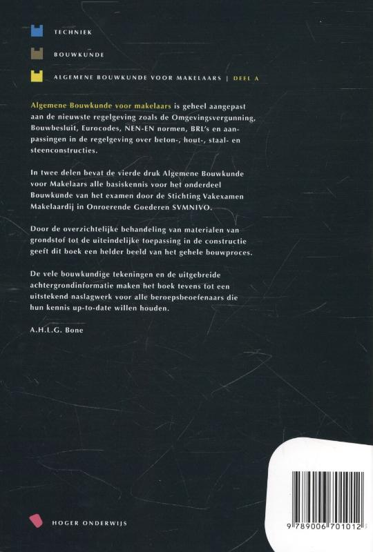 A.H.L.G. Bone,Algemene bouwkunde voor makelaars Deel A