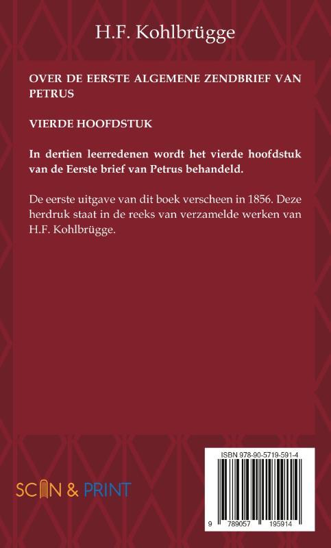H.F. Kohlbrügge,Over de Eerste Brief van Petrus 4