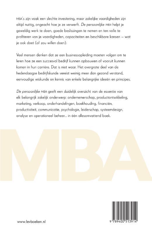 Josh Kaufman,De persoonlijke MBA