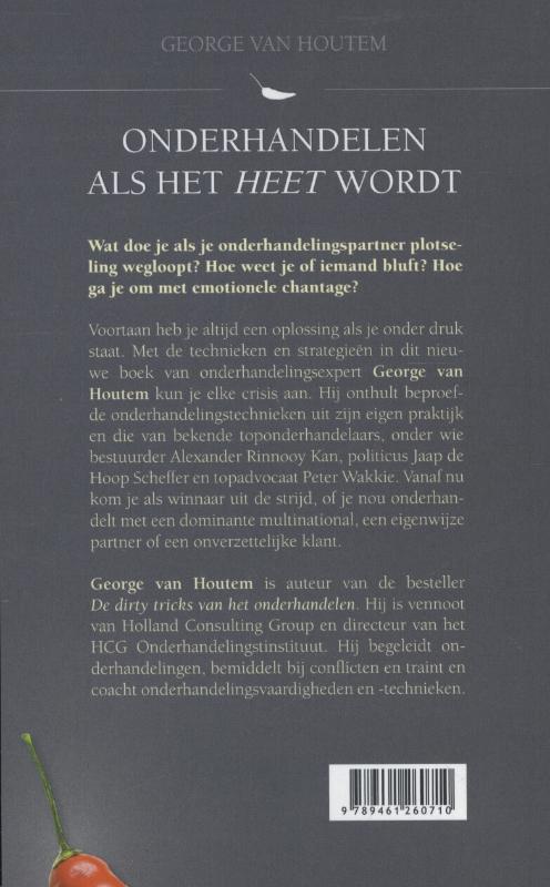 George van Houtem,Onderhandelen als het heet wordt