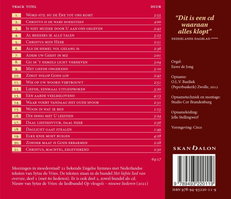Sytze de Vries,Het liefste lied van overzee - cd1