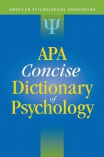 American Psychological Association APA Concise Dictionary of Psychology