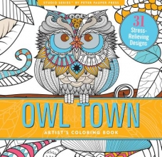 Owl Town Adult Coloring Book (31 Stress-Relieving Designs)