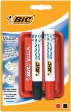 , Whiteboardwisser Bic magnetisch met 2 markers blister