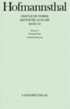 Hofmannsthal, Hugo von Dramen IX. Florindas Werk Cristinas Heimreise