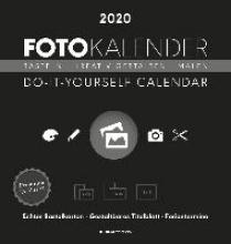 Foto-Bastelkalender 2020 schwarz datiert