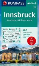 KOMPASS-Karten GmbH , KOMPASS Wanderkarte Innsbruck, Nordkette, Mittleres Inntal 1:35000