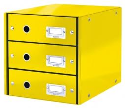 , Ladenbox Leitz WOW Click & Store 3 laden geel