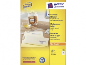 , etiket Avery ILK 70x25,4mm 100 vel 33 etiketten per vel wit