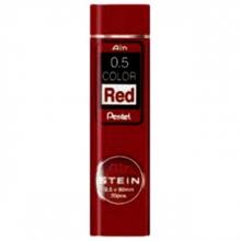 , Potloodstift Pentel 0.5mm rood  koker à 20 stuks