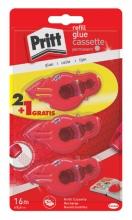 , Lijmroller Pritt navulcassette permanent 2+1 gratis blister