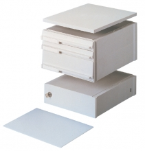 , Stapelcassette Pas A6859-101 voetstuk + afdekplaat grijs