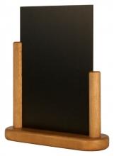 , Krijtbord Securit 23x20x6cm teak hout