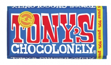 , Chocolade Tony`s Chocolonely reep 180gr puur