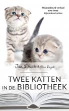 Jan  Louch Twee katten in de bibliotheek