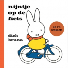 Dick  Bruna nijntje op de fiets op z`n Brabants