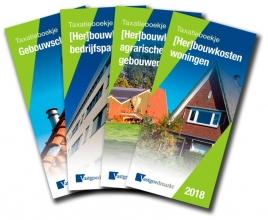 Taxatieboekjes serie.  Pakket (4 boekjes) bestaat uit: 978-94-6346-017-0 (Her)bouwkosten Woningen 978-94-6346-018-7 (Her)bouwkosten Bedrijfspanden 978-94-6346-019-4 (Her)bouwkosten Agrarische gebouwen 978-94-6346-020-0 Gebouwschade