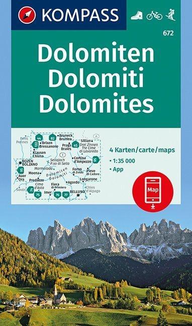 ,Dolomiten - Dolomites - Dolomiti 1 : 35 000