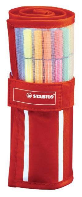 ,Fineliner STABILO Pen 68 rood rollerset á 30 kleuren