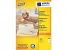 ,etiket Avery ILK 70x67,7mm 100 vel 12 etiketten per vel wit