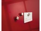 ,magneet voor glasbord Sigel 10x10x10mm zilver extra sterk 2 stuks