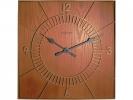 ,wandklok NeXtime 50x50cm hout, bruin, `Wood Square`