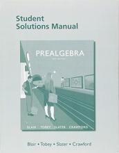 Jamie Blair,   John, Jr. Tobey,   Jeffrey Slater Student Solutions Manual for Prealgebra