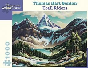 Thomas Hart Benton Trail Riders 1000-Piece Jigsaw Puzzle  Aa