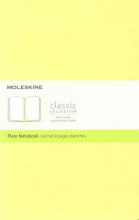 Moleskine Classic Notebook, Large, Plain, Citron Yellow