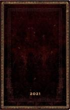 Pb68617 , Paperblanks weekagenda  2021 13.5x21   kolommen black moroccan