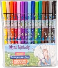 , Miss melody fineliner 15 kleur en