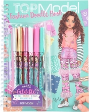 , Topmode fashion doodle book met gelpennen