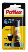 , Secondelijm Pattex Classic tube 3gram op blister