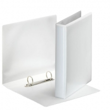 , Presentatie ringband Esselte A5 2-rings D-mech 25mm PP wit
