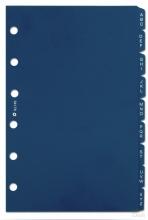 Xt149 , St tabs alfabet plast blauw 9