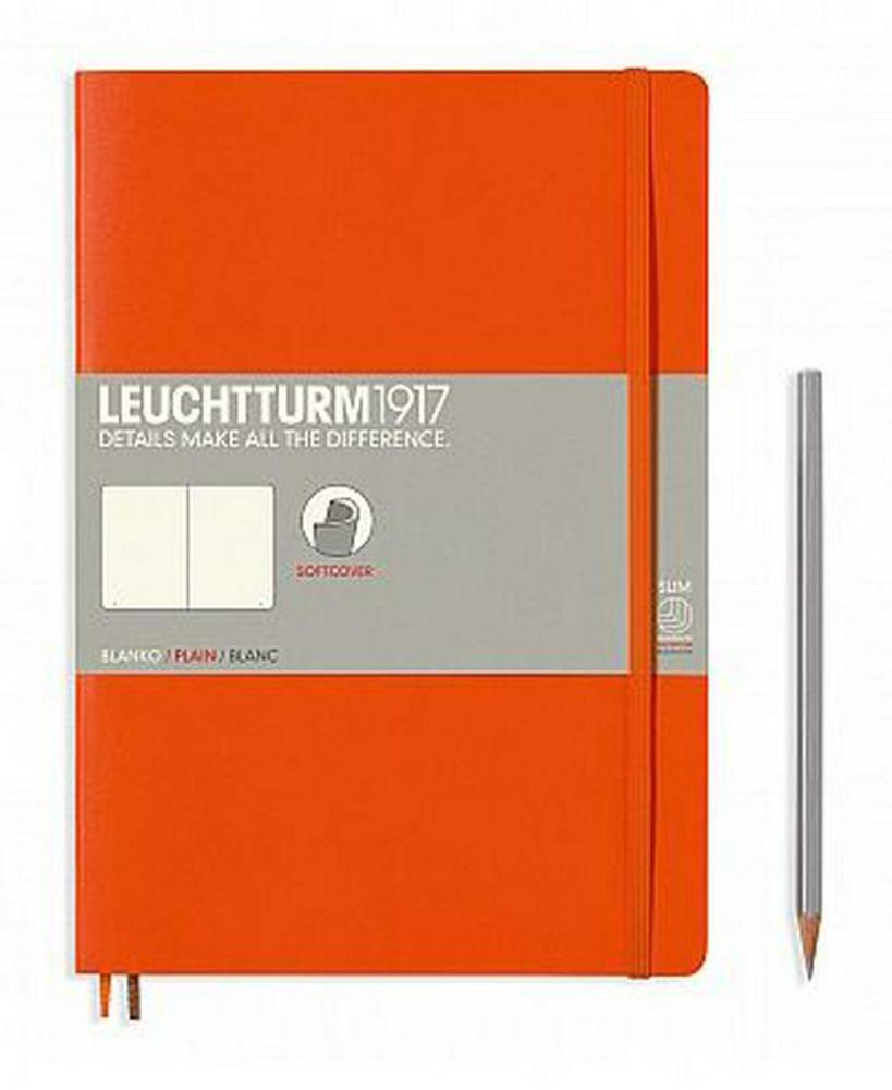 Lt349277,Leuchtturm notitieboek composition 178x254 mm blanco oranje