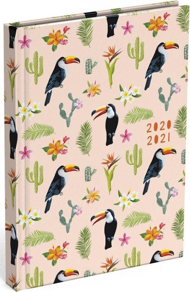 ,Schoolagenda 2020-2021 lannoo good vibes toucan 125x175mm