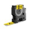 , Labeltape Dymo Rhino 18491 nylon 19mmx3.5m zwart op geel