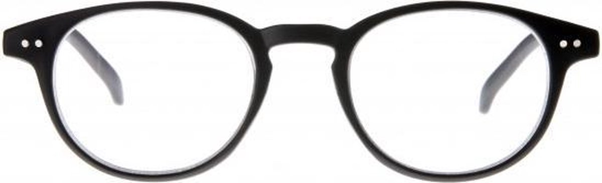 Ycb003,Leesbril icon matt rubberized black 3.00