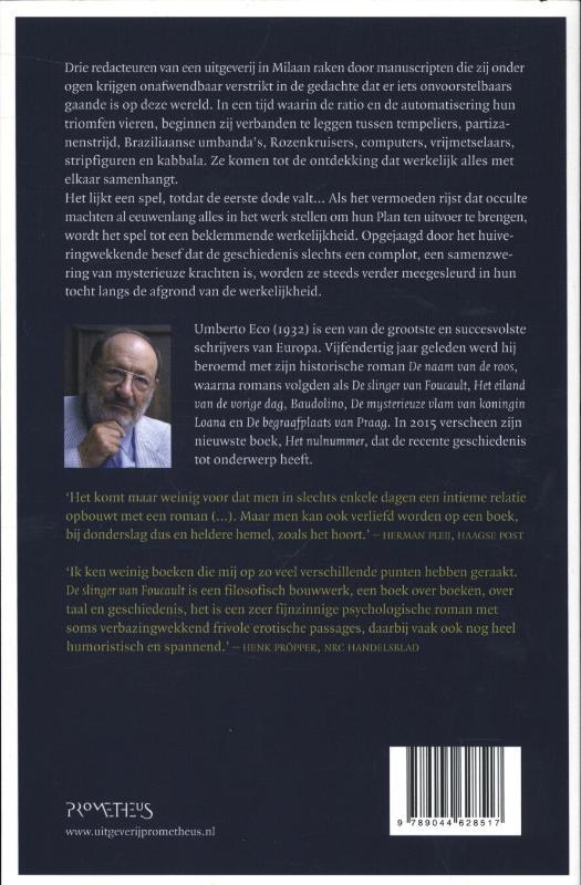 Umberto Eco,De slinger van Foucault